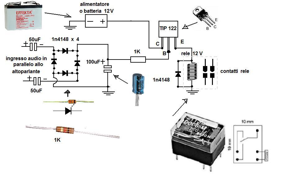 Schemi Elettrici Per Fermodellismo : Relé pilotato da segnale audio il forum di electroyou